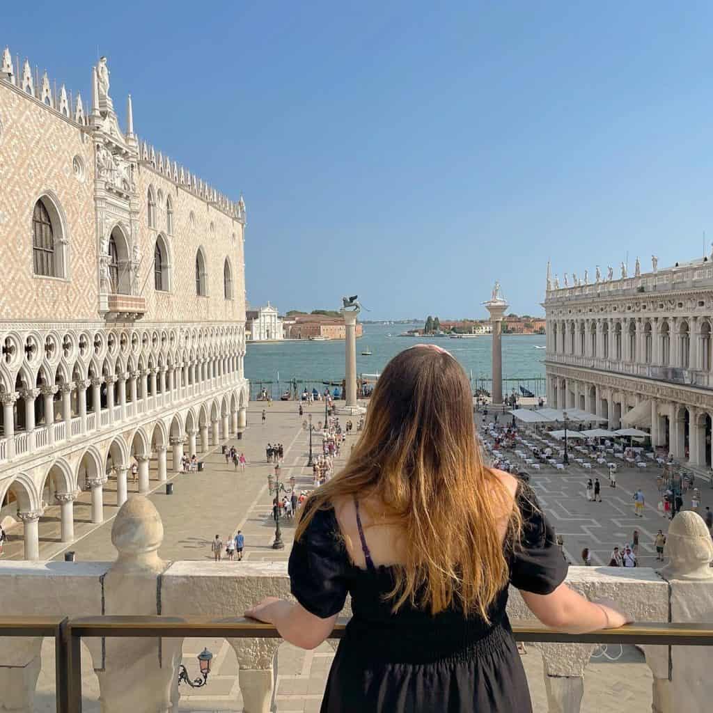 Balcones de la basílica de San Marcos en Venecia